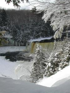 Winter at the Upper Tahquamenon Falls