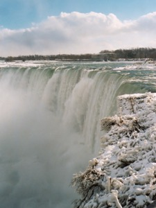 The Niagara Horseshoe Falls in Winter