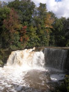 Medina Falls by the Erie Canal
