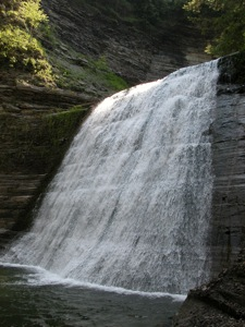 The Lower Falls of New York's Stony Brook State Park
