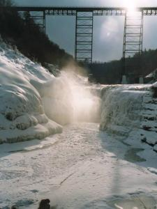 A Winter Afternoon at the Upper Falls in Letchworth