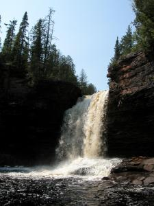 The Upper Wolf River Falls near Dorion Ontario