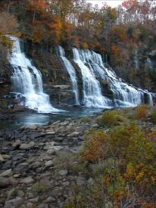 Twin Falls in Tennessee's Rock Island State Park